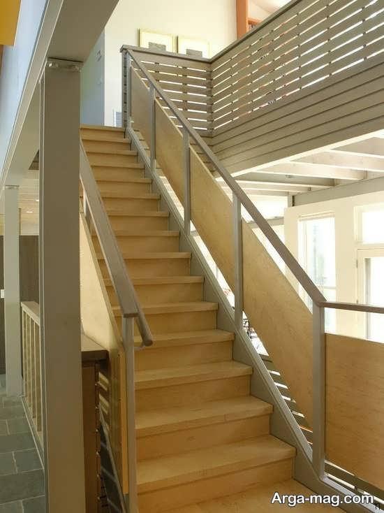 مدل راه پله چوبی برای آپارتمان