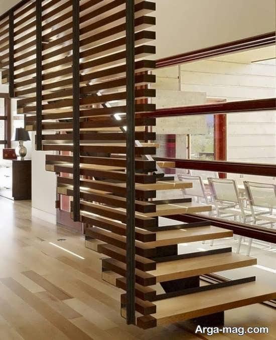 مدل راه پله جدید چوبی