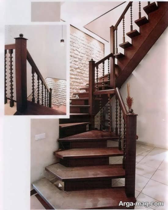 مدل راه پله چوبی برای خانه های دوبلکس