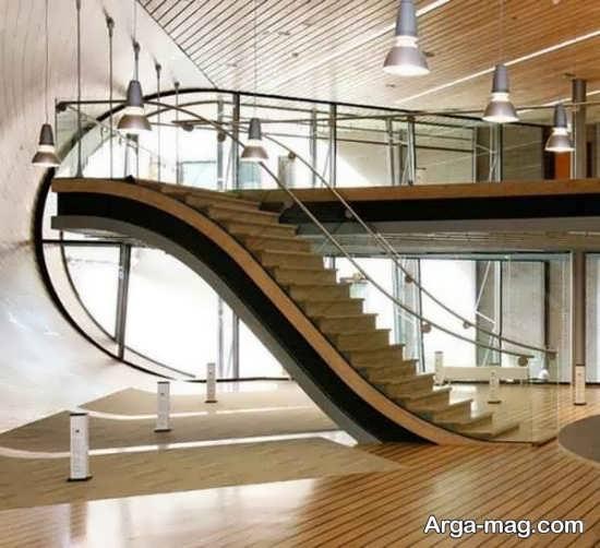 مدل راه پله چوبی خاص و جدید