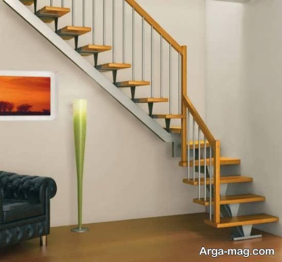 مدل خاص راه پله چوبی