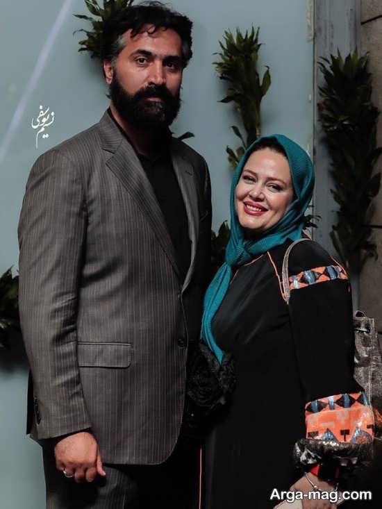 بهاره رهنما و همسرش در اکران مردمی فیلم هشتگ