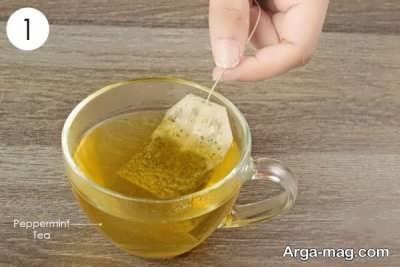 درمان خانگی دل پیچه با چای نعناع