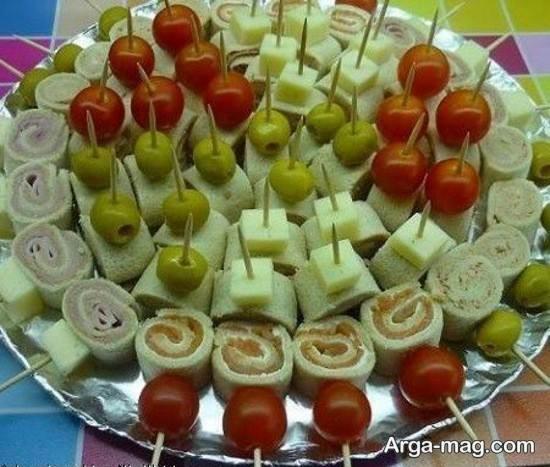 ایده زیبا برای تزیین غذا با خلال دندان