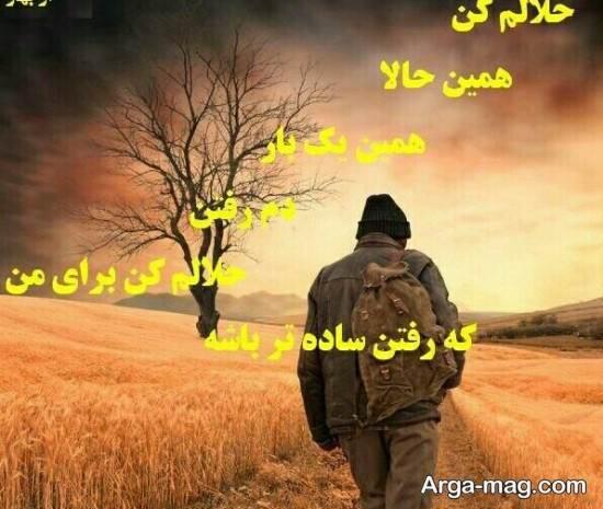 عکس نوشته زیبای حلالم کنید