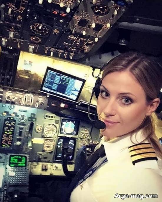 زیباترین زن خلبان جهان