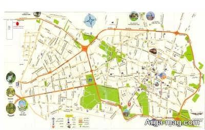 مناطق شهر مشهد بر حسب پیش شماره