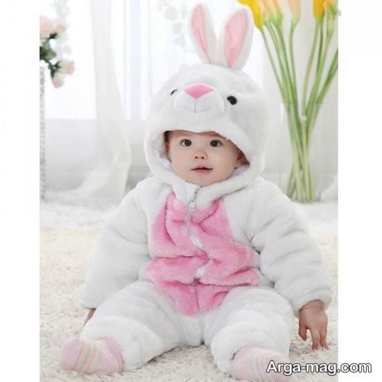 عکس از نوزاد چند ماهه دختر