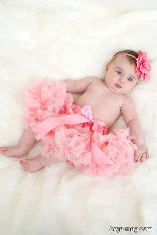 عکس بامزه نوزاد دختر