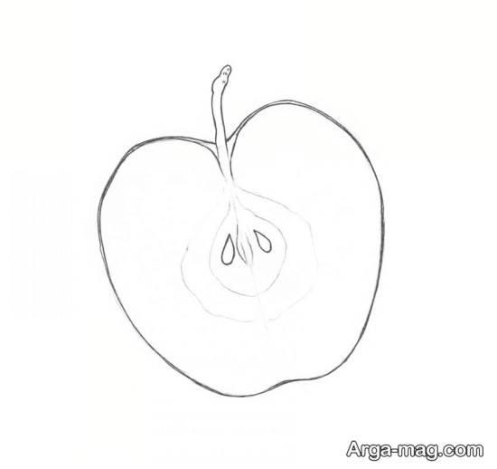 نقاشی راحت و کودکانه سیب