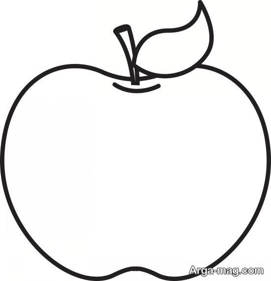 آموزش نقاشی سیب