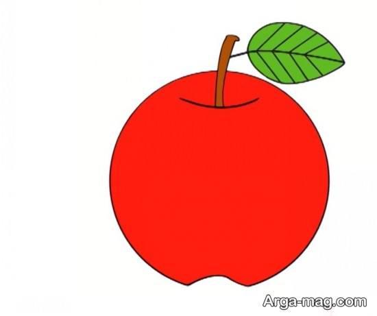رنگ آمیزی سیب قرمز