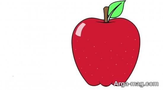 نقاشی زیبای سیب