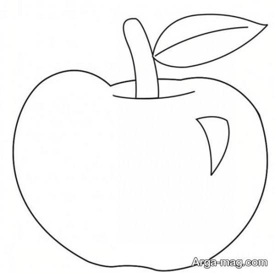 نقاشی کودکانه سیب