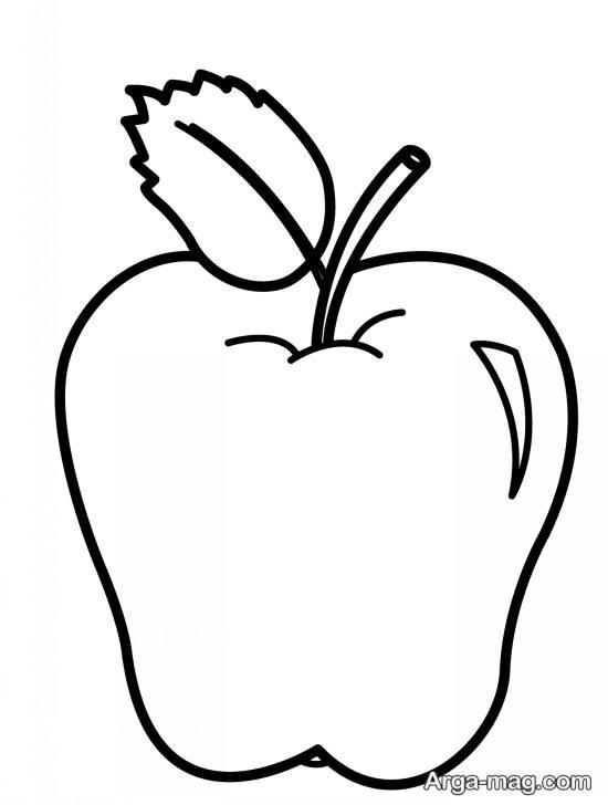 نقاشی قشنگ سیب