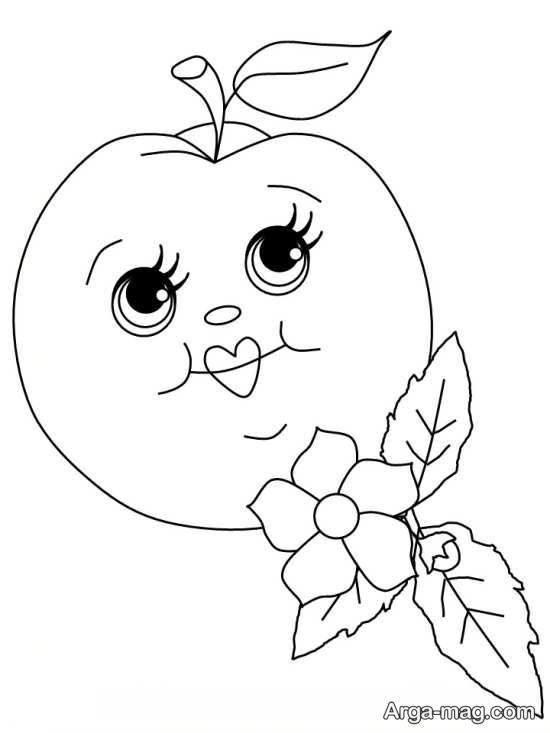 نقاشی کردن سیب