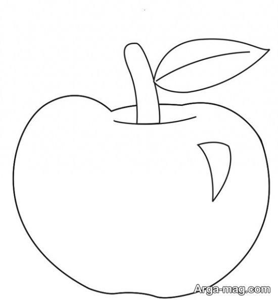 نقاشی ابتدایی سیب
