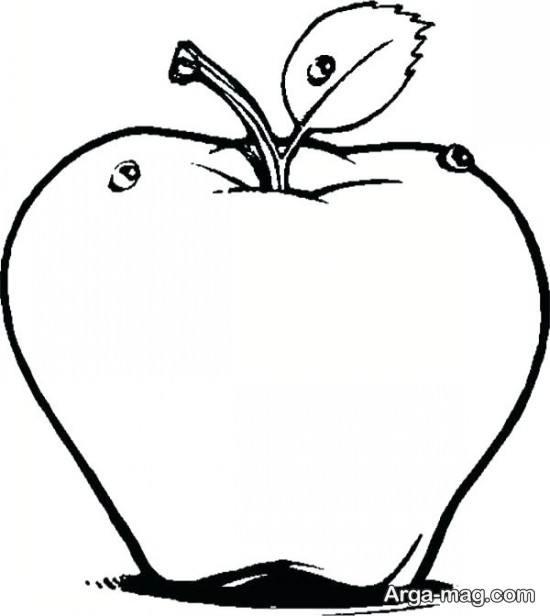 نقاشی و رنگ آمیزی سیب