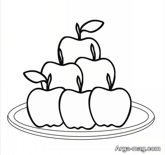 کشیدن ظرف سیب