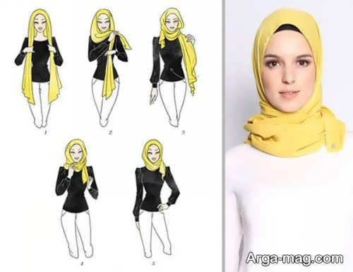نحوه بستن شال عربی ساده