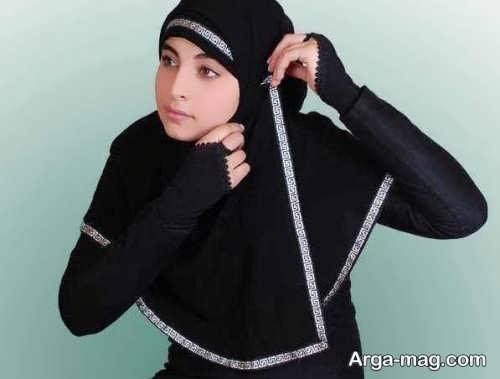 بستن شال عربی دخترانه