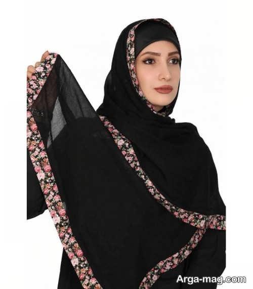 روش بستن شال عربی طرح دار