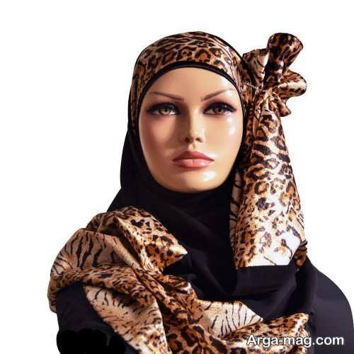 نحوه بستن شال عربی طرح دار