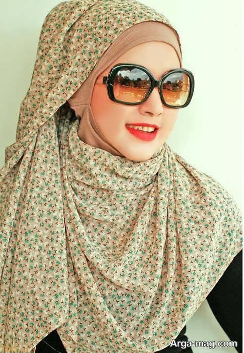 روش بستن شال عربی طرح دار و زیبا