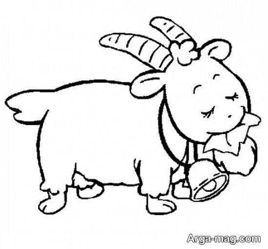 نقاشی از حیوان بز
