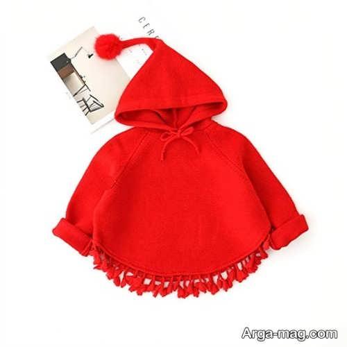 شنل بافتنی قرمز