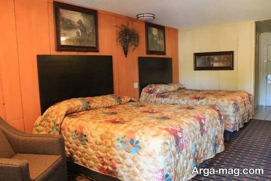 اتاق خواب با دیزاین دو تخته