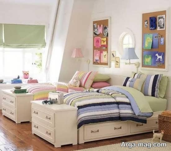 اتاق خواب دخترانه دو تخته