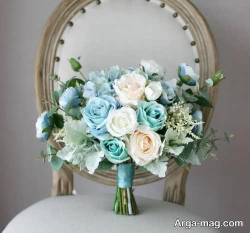 دسته گل زیبا و جدید برای عروس