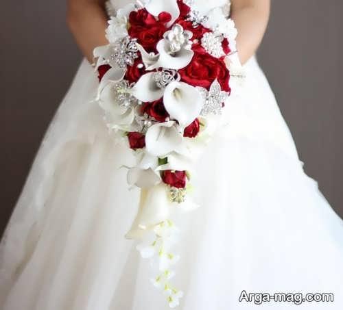 مدل دسته گل آبشاری عروس