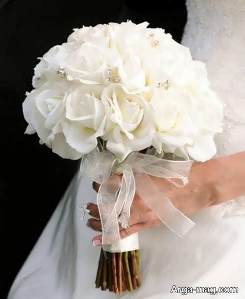 دسته گل سفید برای عروس