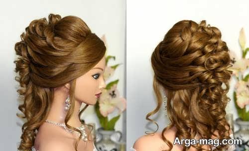 شینیون زیبا برای موی فر