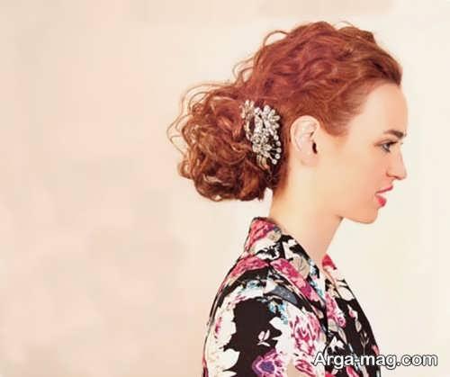 مدل شینیون ساده برای موی فر