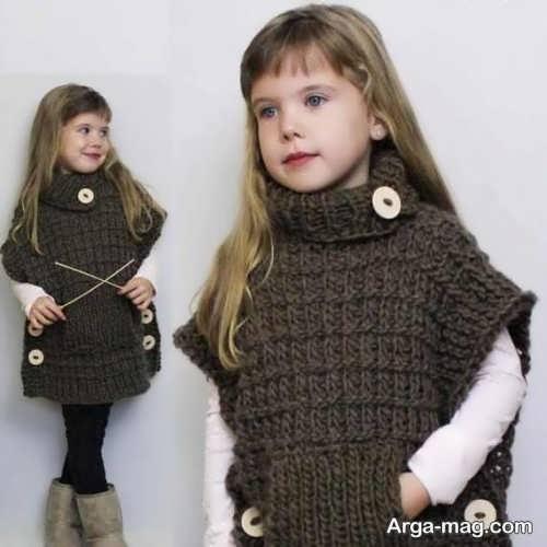مدل شنل بافت بچگانه جذاب