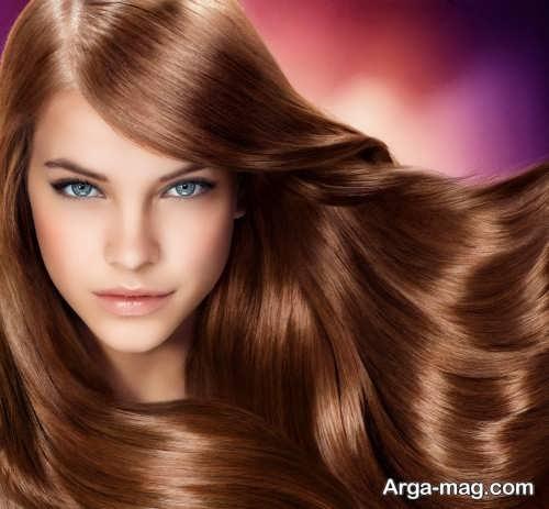 رنگ موی زیبا و جذاب مسی شکلاتی