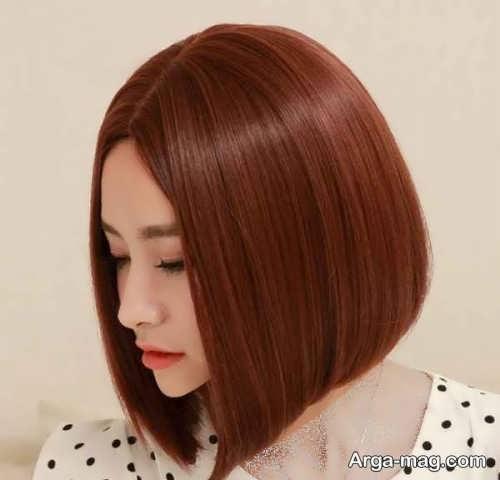 رنگ موی دخترانه مسی شکلاتی