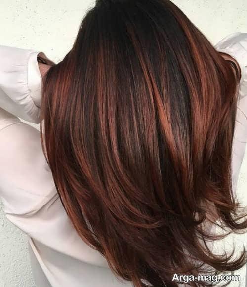 رنگ موی شیک و جذاب مسی شکلاتی