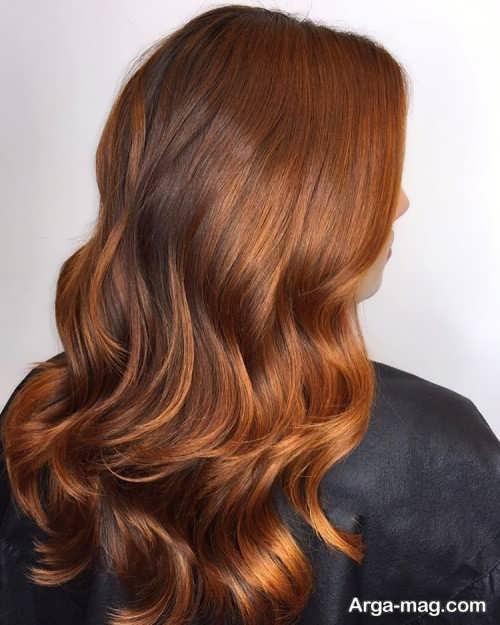 رنگ موی شکلاتی مسی