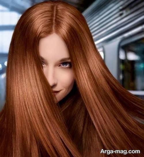رنگ موی زیبا و شیک مسی شکلاتی