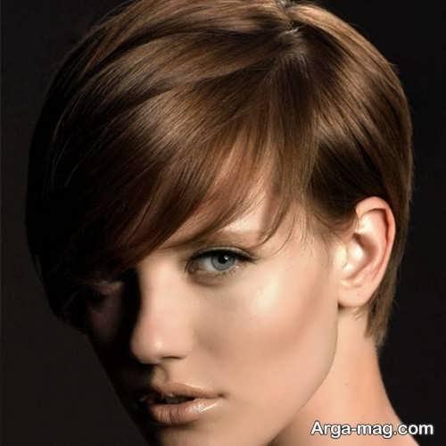 رنگ مو دخترانه تنباکویی