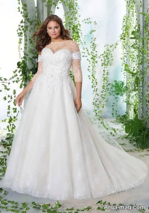 مدل لباس عروس برای خانم های چاق