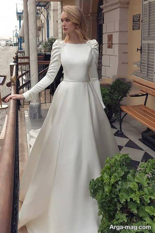 مدل ساده پیراهن عروسی کلاسیک