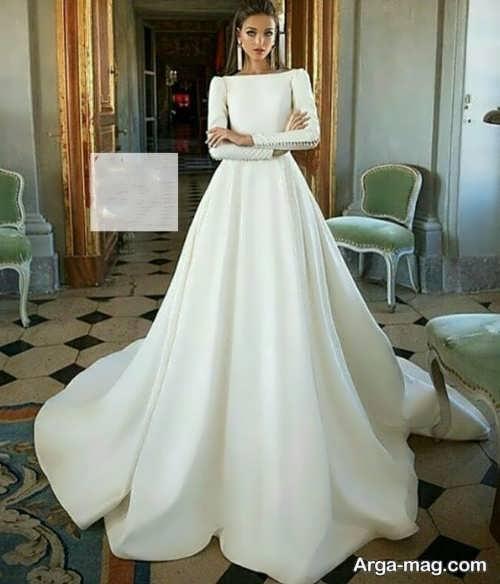 مدل پیراهن عروسی ساتن و کلاسیک