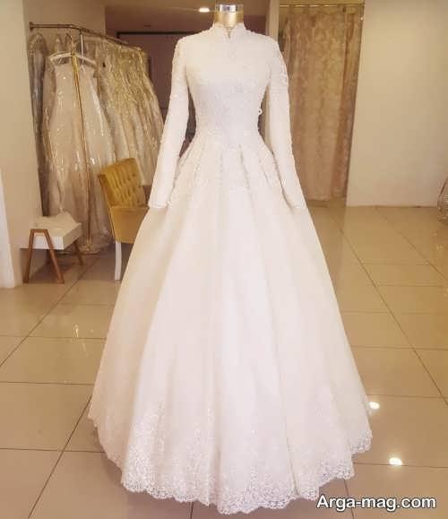 مدل پیراهن عروسی کلاسیک زیبا