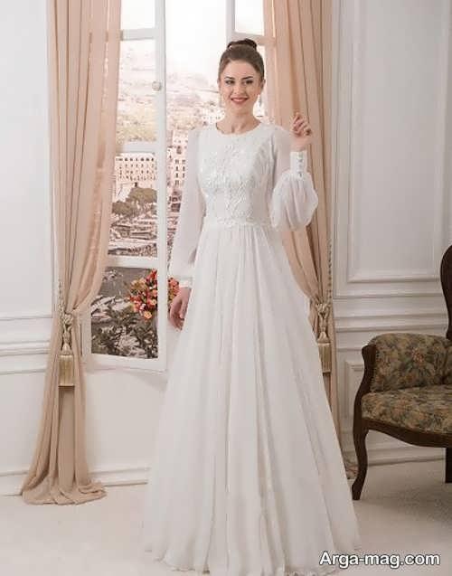 مدل جذاب پیراهن عروسی کلاسیک