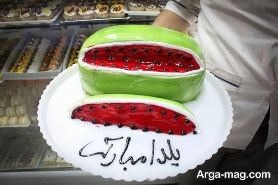 طرح های جدید برای تزیین کیک شب یلدا